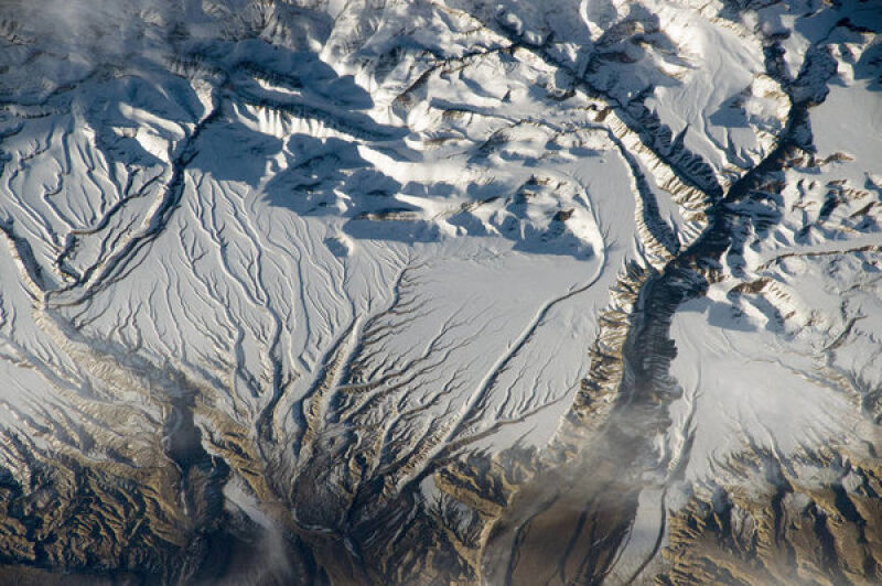 Himalaje w pobliżu chińsko-indyjskiej granicy
