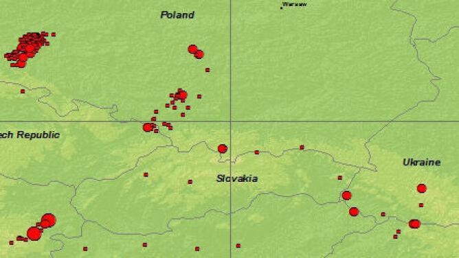 Ponad 100 lat trzęsień ziemi w Polsce. Amerykanie stworzyli mapę