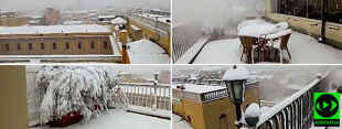 Buran nad Włochami, Rzym w śniegu