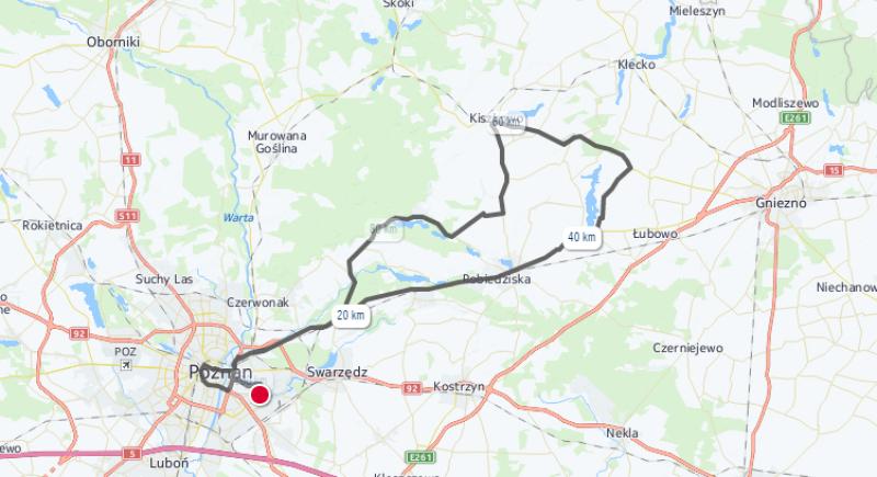Mapa trasy Wings For Life World Run 2017