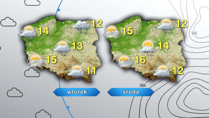 Prognoza pogody na wtorek i środę