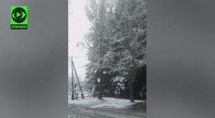 Pierwszy śnieg w Zawoi